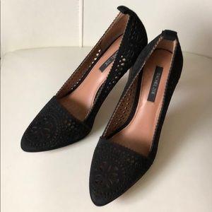 Rachel Zoe suede heels,size 6